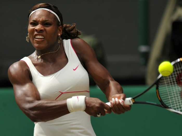 (FILES) US Serena Williams returns a ball to Russia's Vera Zvonareva in the women's grand final of the Wimbledon Tennis Championships at the All England Tennis Club, in southwest London, on July 3, 2010. Williams, a former world number one and 13-time Grand Slam singles champion, has undergone surgery to remove a blood clot from her lungs, a representative for the tennis star said March 2, 2011. Nicole Chabot told People magazine that the 29-year-old American underwent an emergency operation at Cedars-Sinai Medical Center in Los Angeles on Monday and continues to be monitored by doctors.